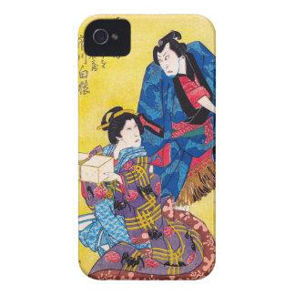 Guerrero japonés oriental fresco del geisha y del carcasa para iPhone 4 de Case-Mate