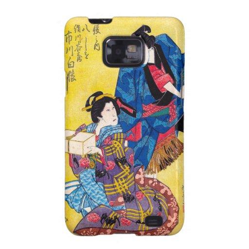 Guerrero japonés oriental fresco del geisha y del  samsung galaxy SII funda