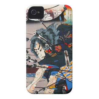 Guerrero japonés tradicional oriental fresco del carcasa para iPhone 4