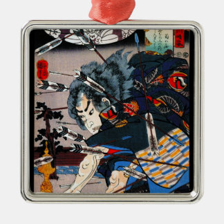 Guerrero japonés tradicional oriental fresco del s ornamentos para reyes magos
