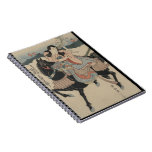 Guerrero japonés y su cuaderno de risa del caballo
