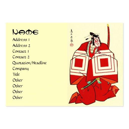 Guerrero legendario del samurai de Shibaraku del j Tarjeta De Visita