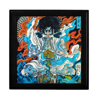 Guerrero legendario japonés oriental fresco del hé caja de recuerdo