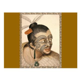 Guerrero maorí cerca de 1784 tarjetas postales