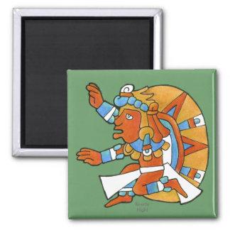Guerrero maya v.1 imán cuadrado
