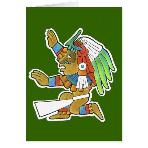 Guerrero maya v.2 tarjeta de felicitación