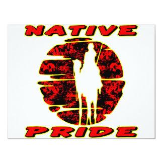 """Guerrero nativo #002 del orgullo invitación 4.25"""" x 5.5"""""""