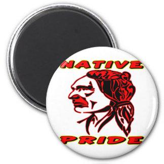Guerrero nativo #3 del orgullo imán redondo 5 cm