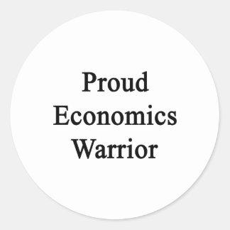 Guerrero orgulloso de la economía pegatina redonda