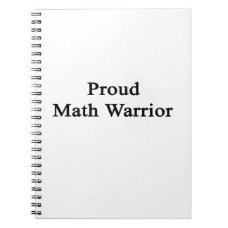 Guerrero orgulloso de la matemáticas libro de apuntes con espiral
