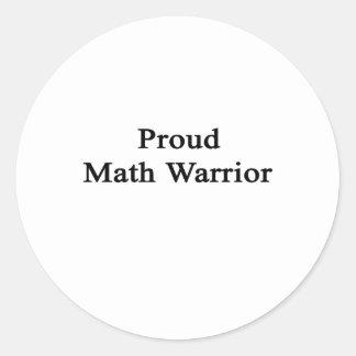 Guerrero orgulloso de la matemáticas pegatinas redondas