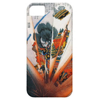 Guerrero oriental fresco del samurai de Kunioshi iPhone 5 Carcasas