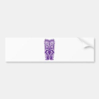 Guerrero púrpura del tótem de Tiki Pegatina Para Auto