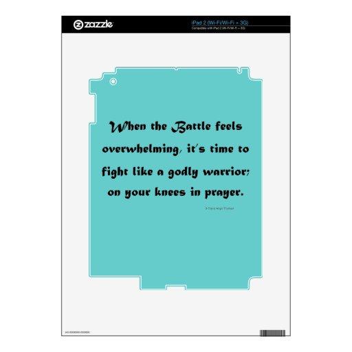 guerrero santo calcomanía para el iPad 2