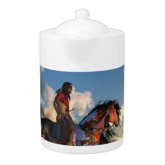 Guerrero y caballo de guerra