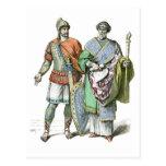 Guerrero y canciller bizantinos postal
