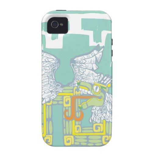 Guerrero y Kukulkan de Teotihuacan Vibe iPhone 4 Carcasa