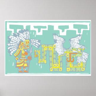 Guerrero y Kukulkan de Teotihuacan Posters