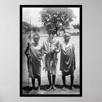 Guerreros África 1899 de Nandi Póster