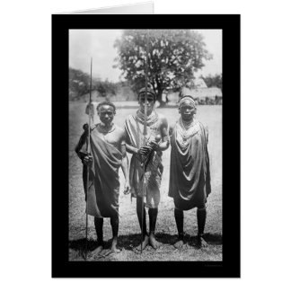 Guerreros África 1899 de Nandi Tarjeta De Felicitación