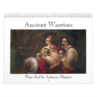 Guerreros antiguos calendarios de pared