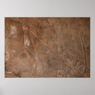 Guerreros asirios póster