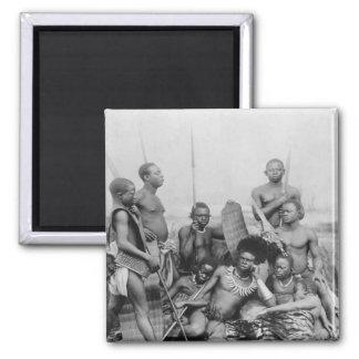 Guerreros, Congo Belga, 1894 Imán Cuadrado