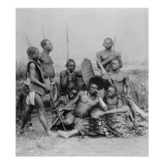 Guerreros, Congo Belga, 1894 Posters
