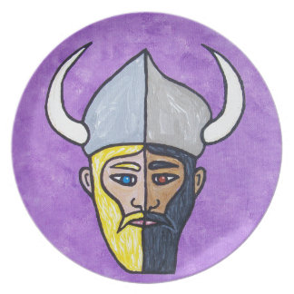 Guerreros de Assyro-Viking Plato De Cena