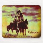 Guerreros de Cheyenne del vintage de Colorado a ca Tapete De Raton