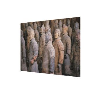 Guerreros de la terracota en el emperador Qin Shih Impresiones En Lona Estiradas