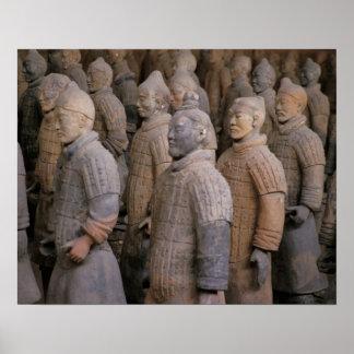 Guerreros de la terracota en el emperador Qin Shih Póster