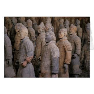 Guerreros de la terracota en el emperador Qin Shih Tarjeta De Felicitación