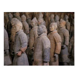 Guerreros de la terracota en el emperador Qin Tarjeta Postal