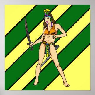 Guerreros de las mujeres del Amazonas Impresiones