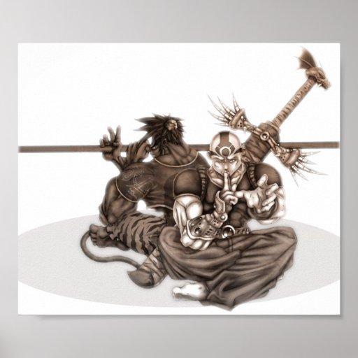 Guerreros de Manga de la fantasía Poster
