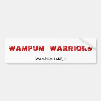 GUERREROS DE WAMPUM, LAGO DE WAMPUM, IL PEGATINA PARA AUTO