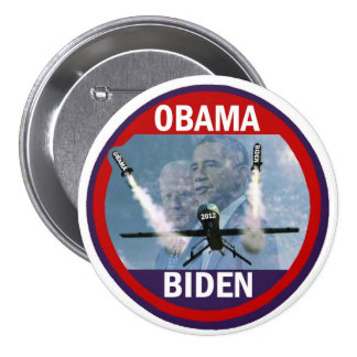 Guerreros del abejón de Obama Biden Pin Redondo De 3 Pulgadas