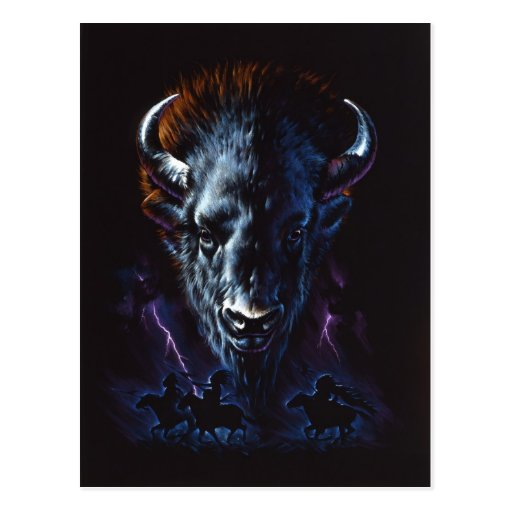 Guerreros del búfalo tarjeta postal