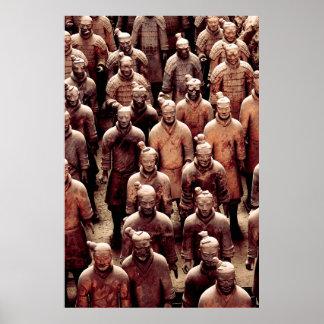 Guerreros del ejército de la terracota - dinastía  posters