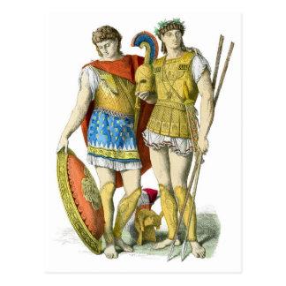 Guerreros del griego clásico postales
