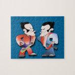 Guerreros del samurai rompecabeza