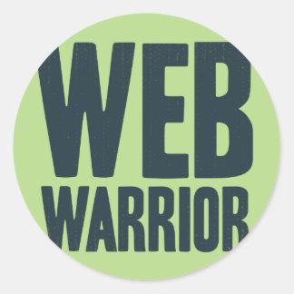 Guerreros del WEB - luchamos en nombre de verdad Etiqueta Redonda