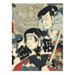 Guerreros japoneses del samurai del vintage postal