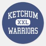 Guerreros Ketchum medio Oklahoma de Ketchum Etiqueta Redonda
