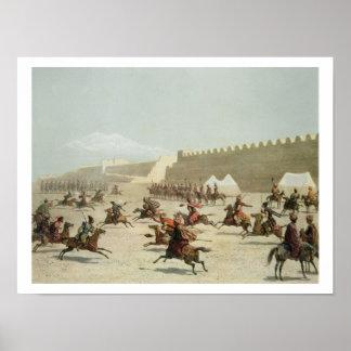 Guerreros kurdos y tártaros en Sadar Abbat, Armeni Posters