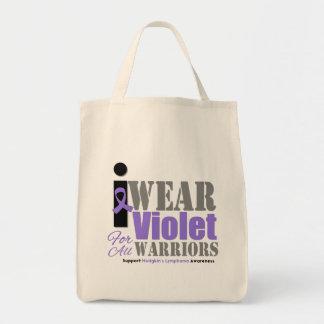 Guerreros violetas de la cinta - el linfoma de Hod Bolsas Lienzo