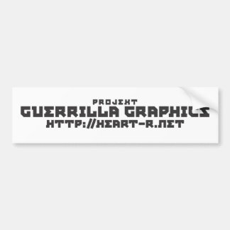 Guerrilla Graphics Logo Bumper Sticker