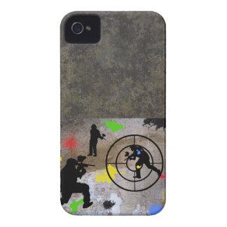 Guerrilla urbana Paintball iPhone 4 Carcasas