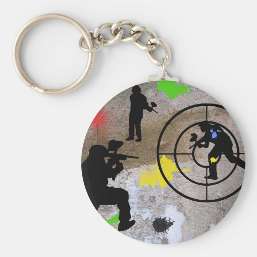 Guerrilla urbana Paintball Llaveros Personalizados